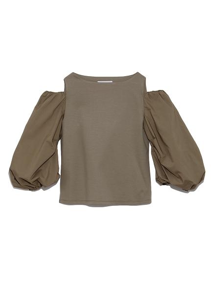 肩あき袖ボリュームカットトップス(KKI-36)
