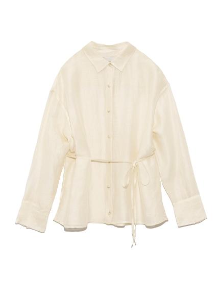 2WAYシアーシャツ(WHT-F)