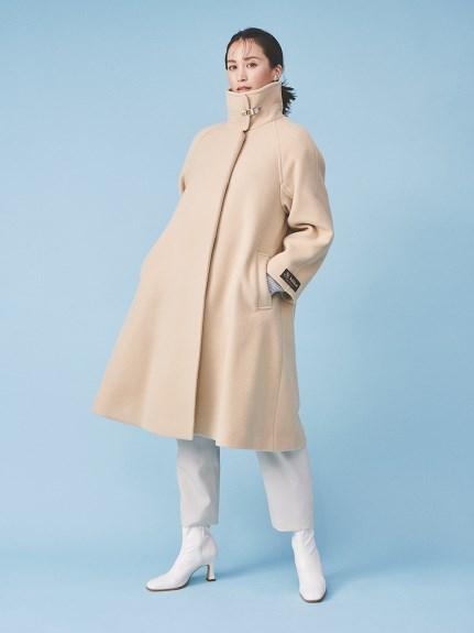 Aラインスタンドカラーコート