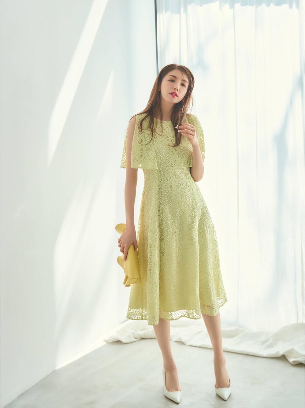 スパンコール刺繍ドレス