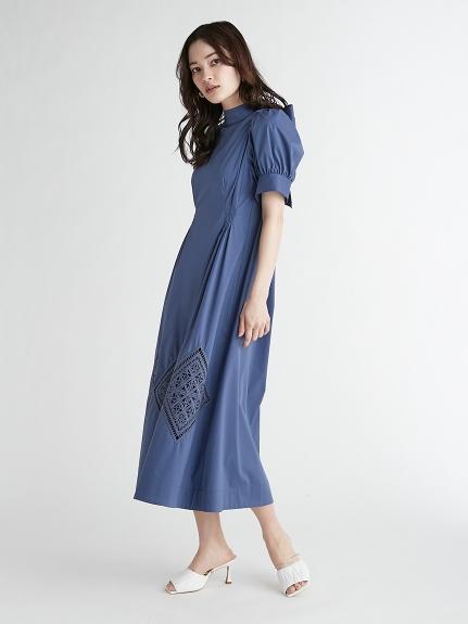 バックリボン刺繍ワンピース(BLU-36)