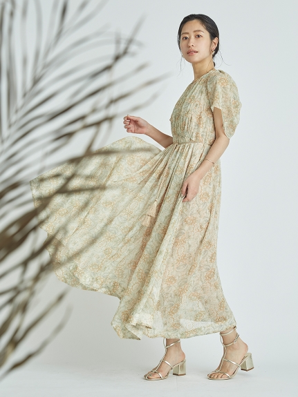 ハーバルフラワープリントドレス