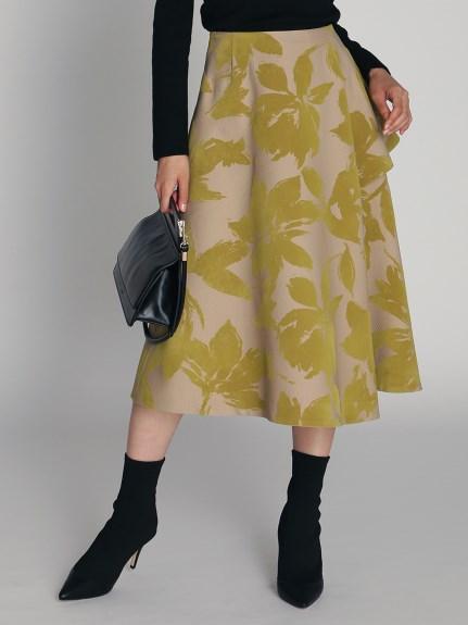 フロッキープリントスカート