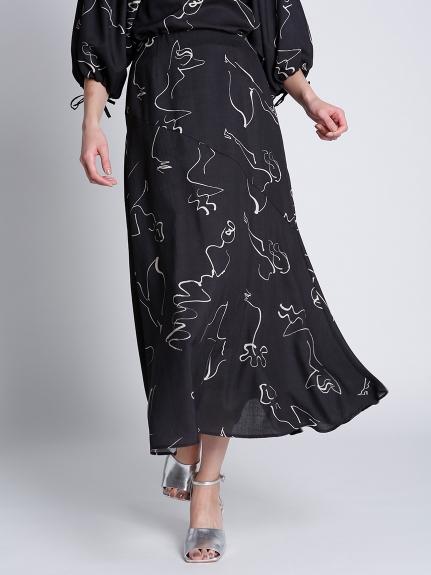 コラボプリントスカート