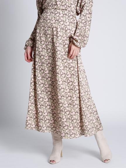 小花柄プリントスカート