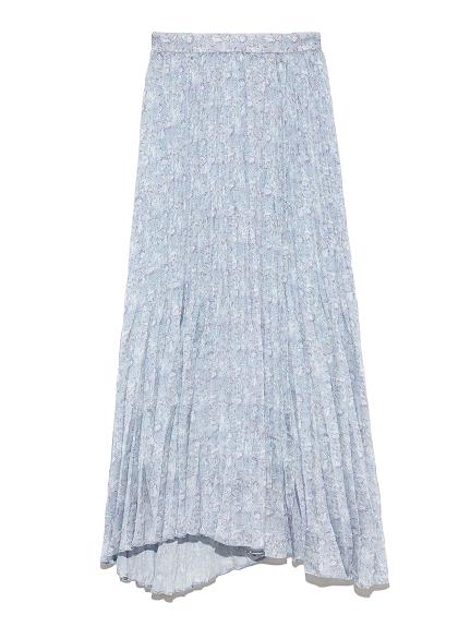 小花柄ワッシャースカート(SAX-36)