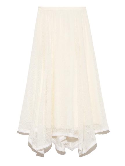 シアー刺繍スカート(OWHT-36)