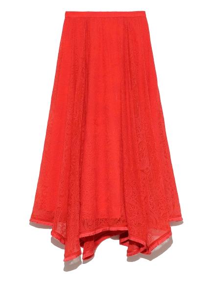 シアー刺繍スカート(RED-36)