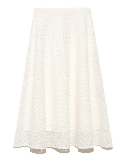 刺繍フレアスカート(WHT-36)