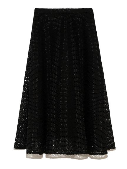 刺繍フレアスカート(BLK-36)