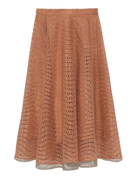 刺繍フレアスカート(MOC-36)