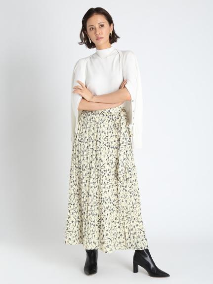 ガウラプリントラップスカート