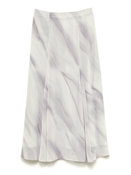 地層柄マーメードスカート