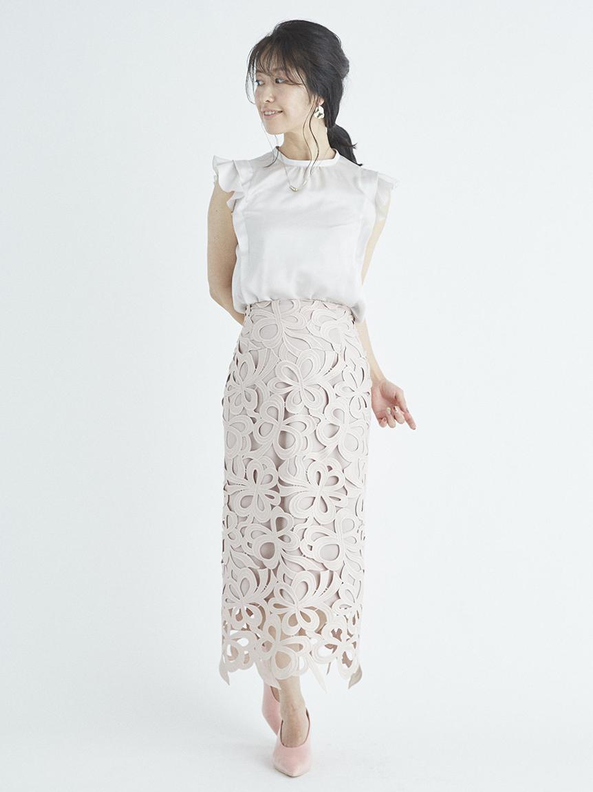 リボンレーススカート