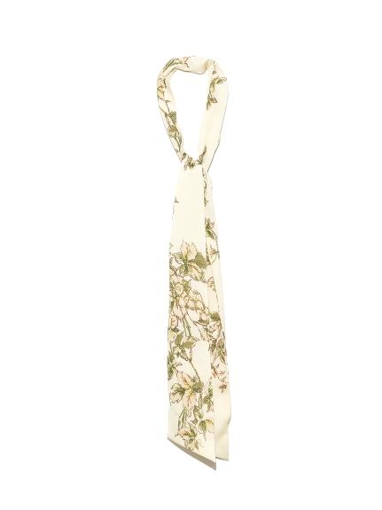 フィソステギアブーケプリントスカーフ