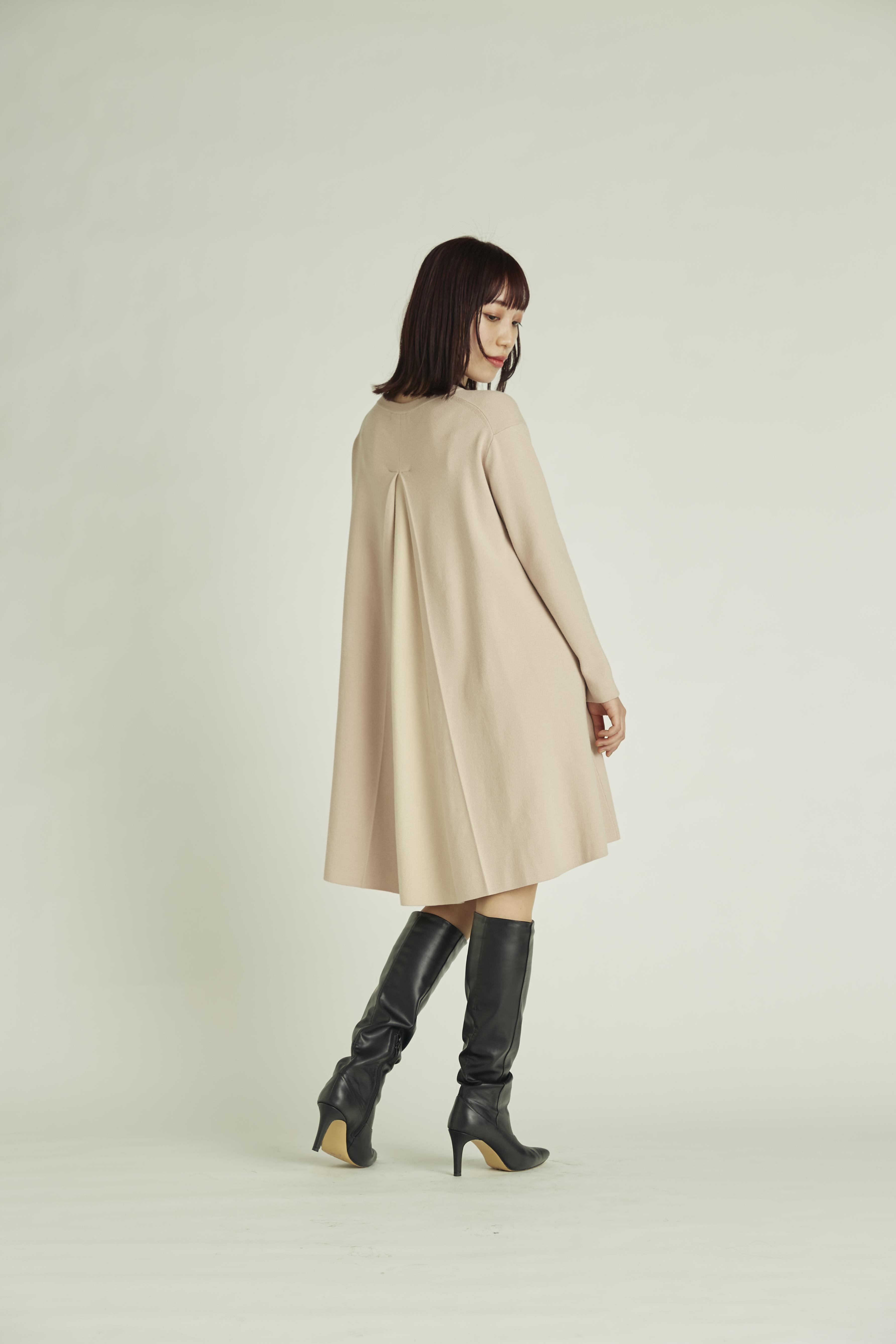 【NEW Year Special Knit Dress】バイカラーAラインニットワンピース(PBEG-36)