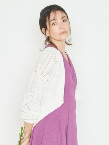 メッシュ編みカーディガン