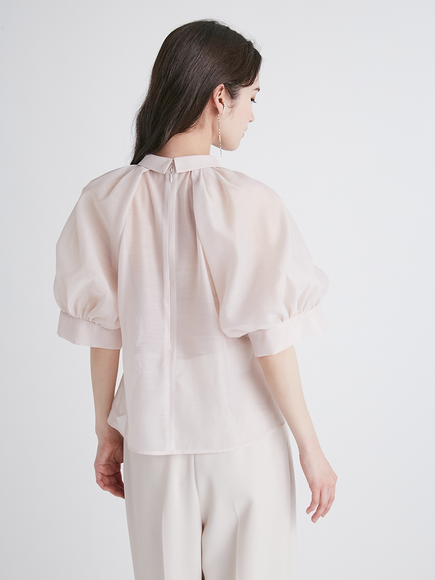衿付きパフスリーブブラウス | CWFB214035