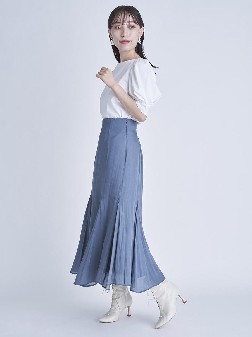 光沢シアーフレアスカート | CWFS214112