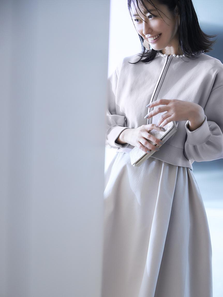 ホールガーメントボリューム袖ワンピース | CWNO214074
