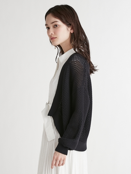 メッシュ編みカーディガン | CWNT212053