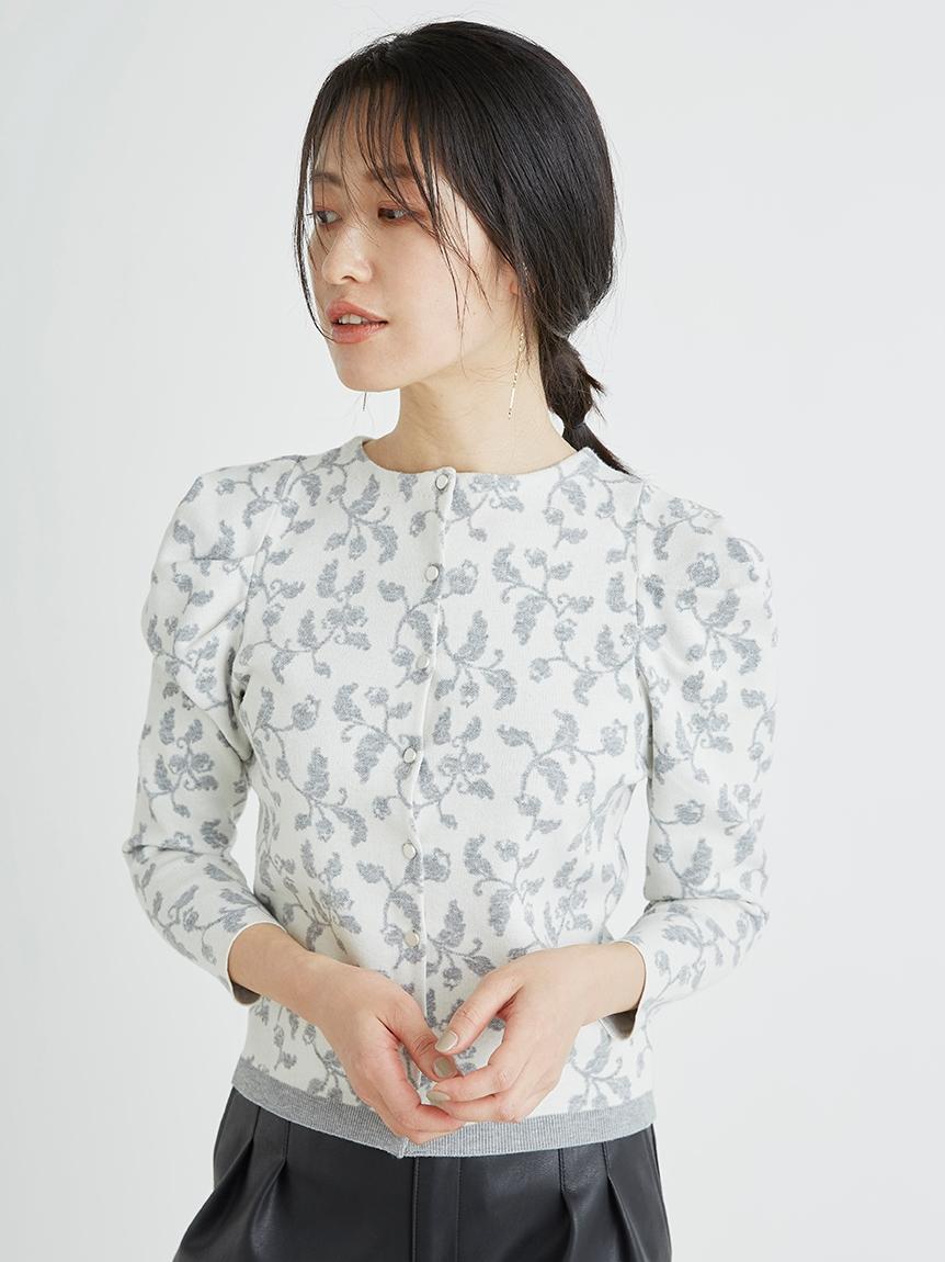 花柄ジャガードカーディガン | CWNT214107