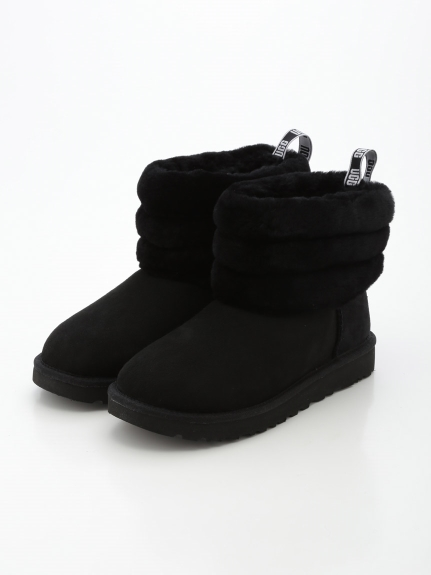 【UGG】FLUFF MINI QUILTED(BLK-23.0)
