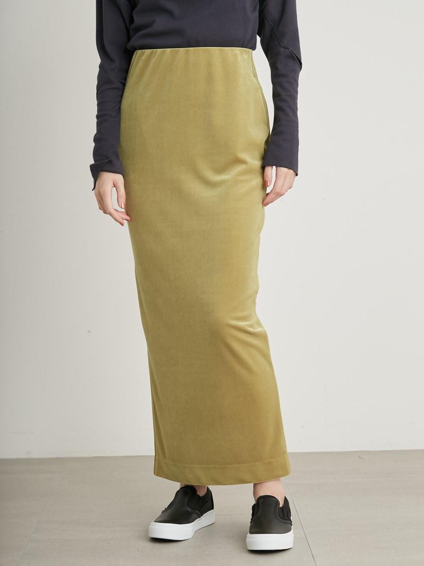 【emmi atelier】Iラインベロアスカート