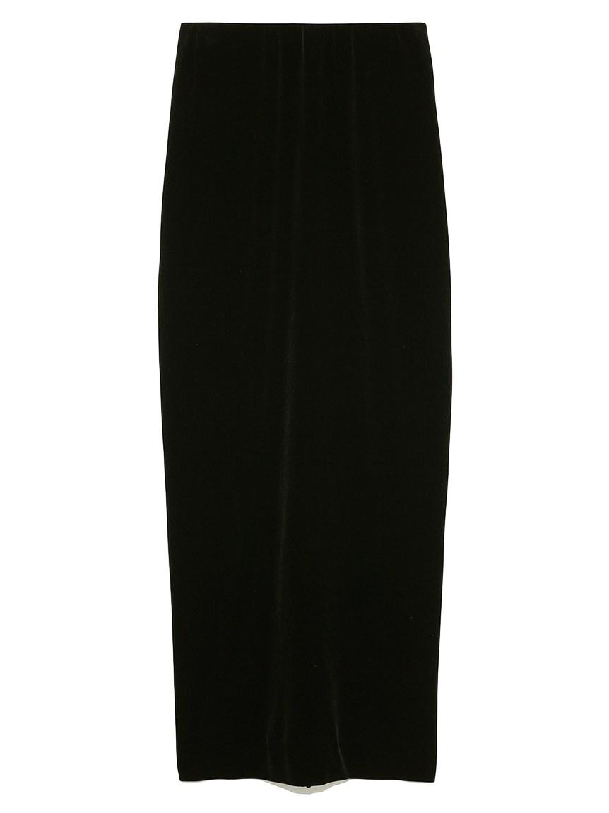 【emmi atelier】Iラインベロアスカート(BLK-0)