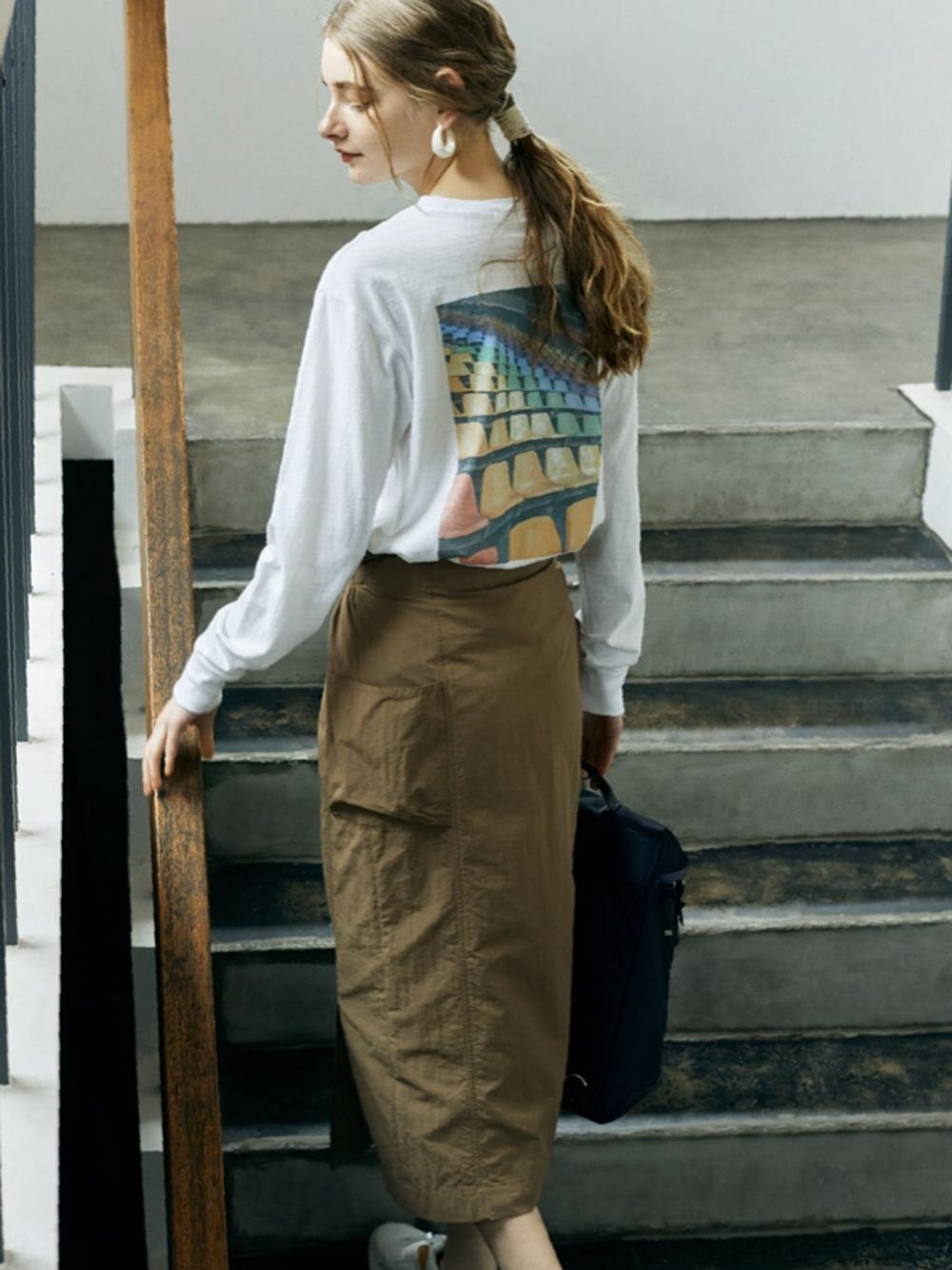 【emmi atelier】フォトTシャツ(WHT-F)