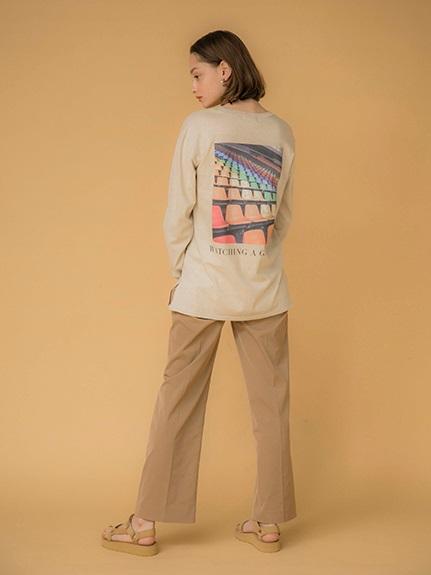 【emmi atelier】フォトTシャツ(BEG-F)