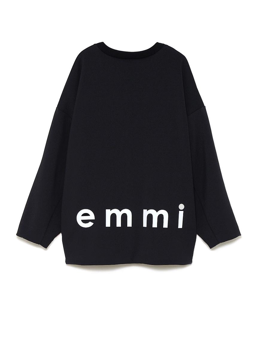 【emmi atelier】ダンボールニットロゴトップス