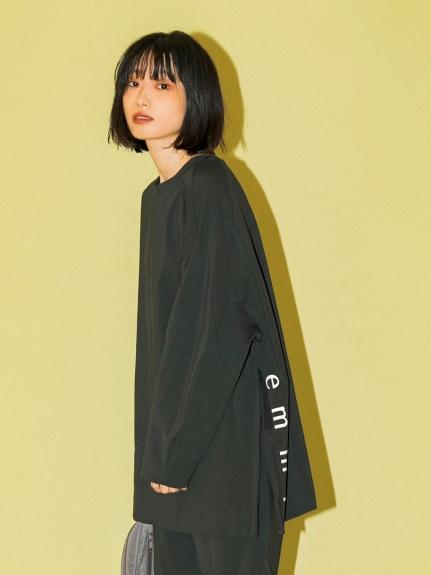 【emmi atelier】サスティナレッチトップス(BLK-0)