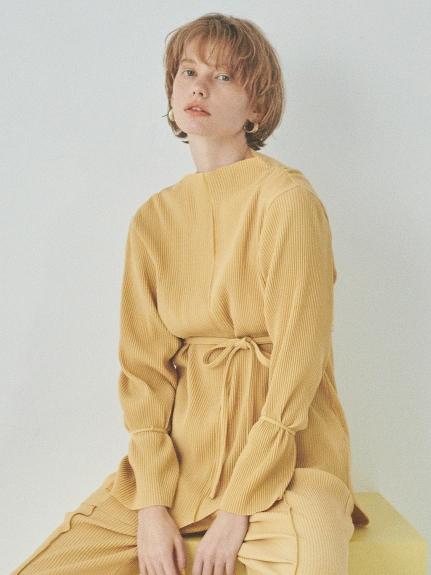 【emmi atelier】ストレッチプリーツトップス(YEL-F)