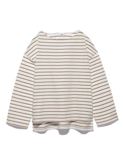 【emmi atelier】オーバーロングスリーブボーダーTeeシャツ(BEG-F)