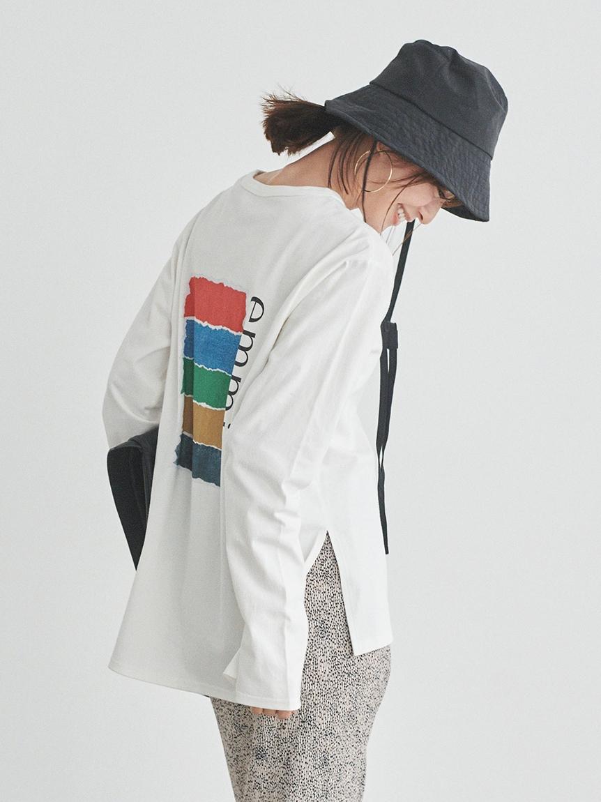 【emmi atelier】グラフィックロングTシャツ(A-F)