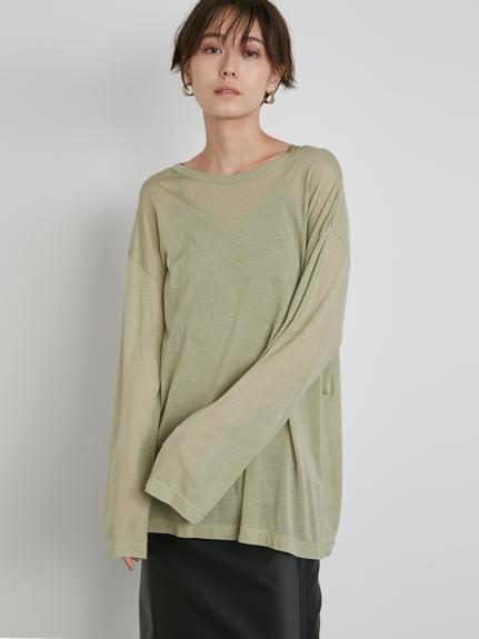 【emmi atelier】テンセルオーバーロングTシャツ(OLV-F)