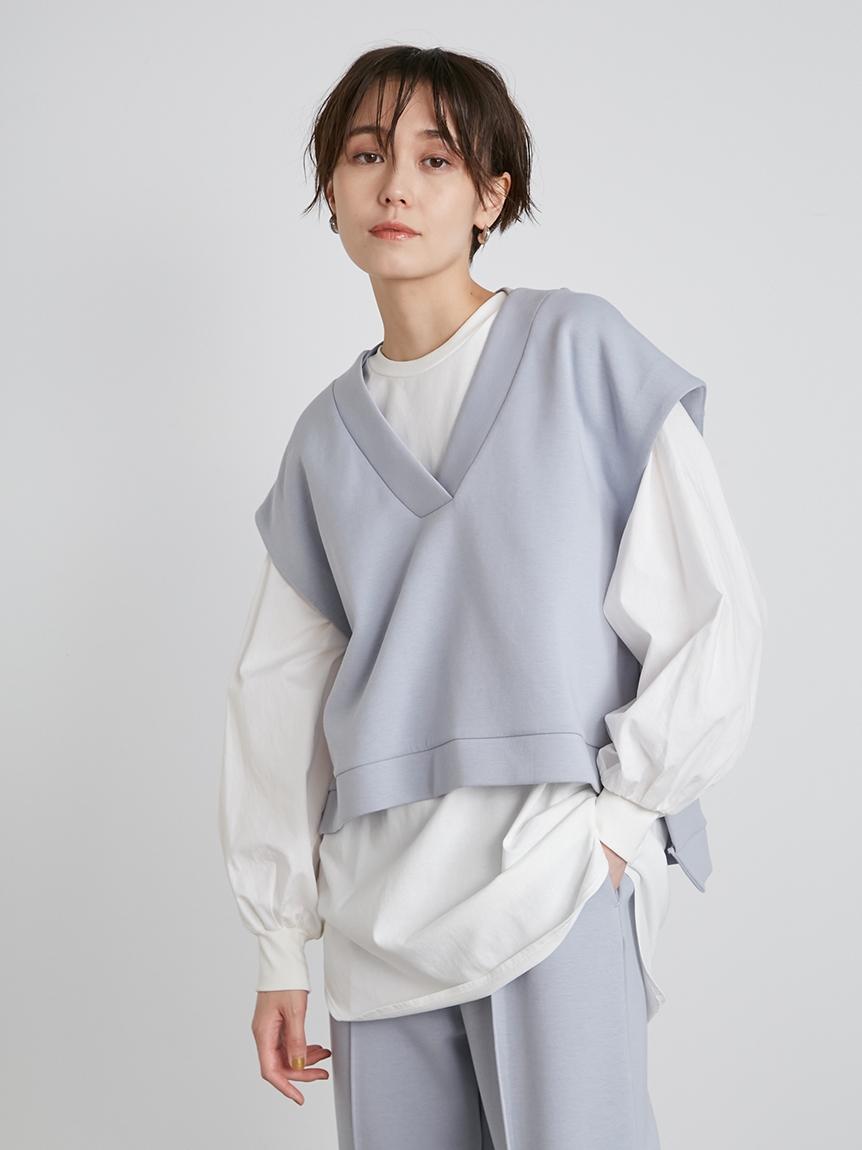 【emmi atelier】AYA KANEKOコラボecoダンボールベスト(BLU-F)