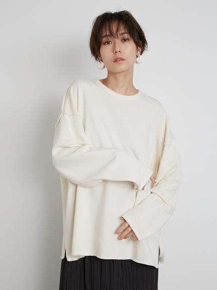 【emmi atelier】スリーブデザインミニ裏毛トップス