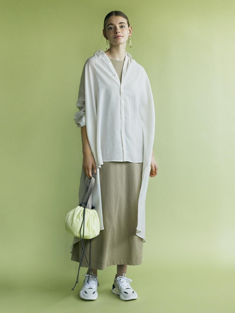 【emmi atelier】バックロングシャツ(LBEG-F)