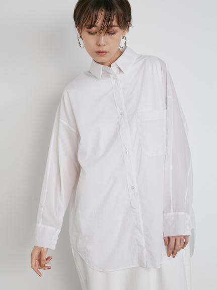 【emmi atelier】ストレッチBIGシャツ(WHT-F)