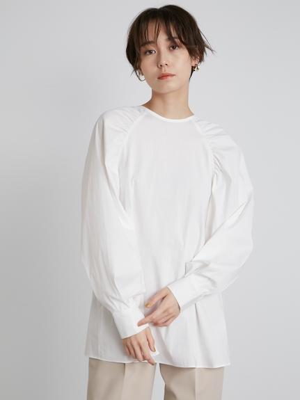 【emmi atelier】ラグランスリーブシャツ(WHT-F)