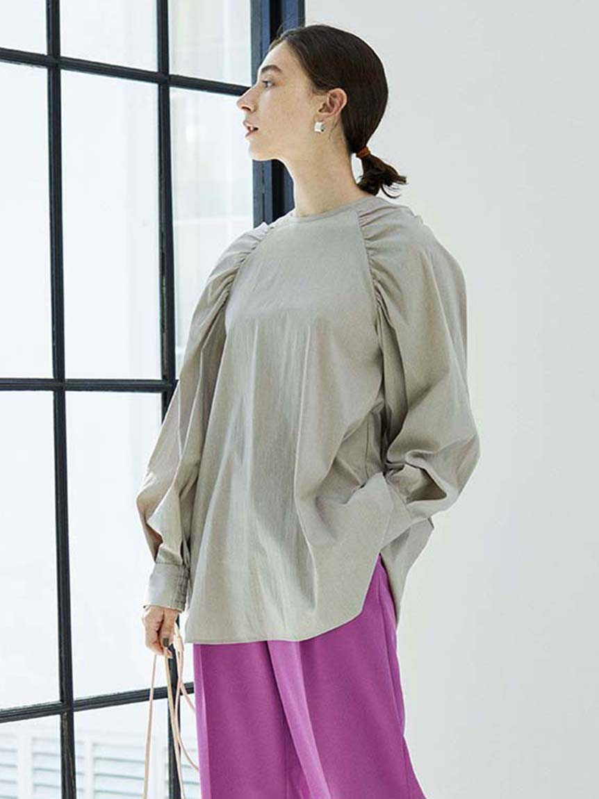 【emmi atelier】ラグランスリーブシャツ(LGRY-F)