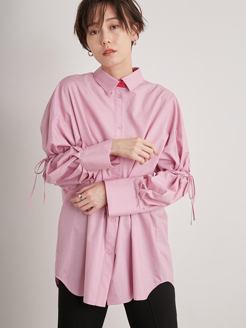 【emmi atelier】ビックスリーブシャツ(PNK-F)