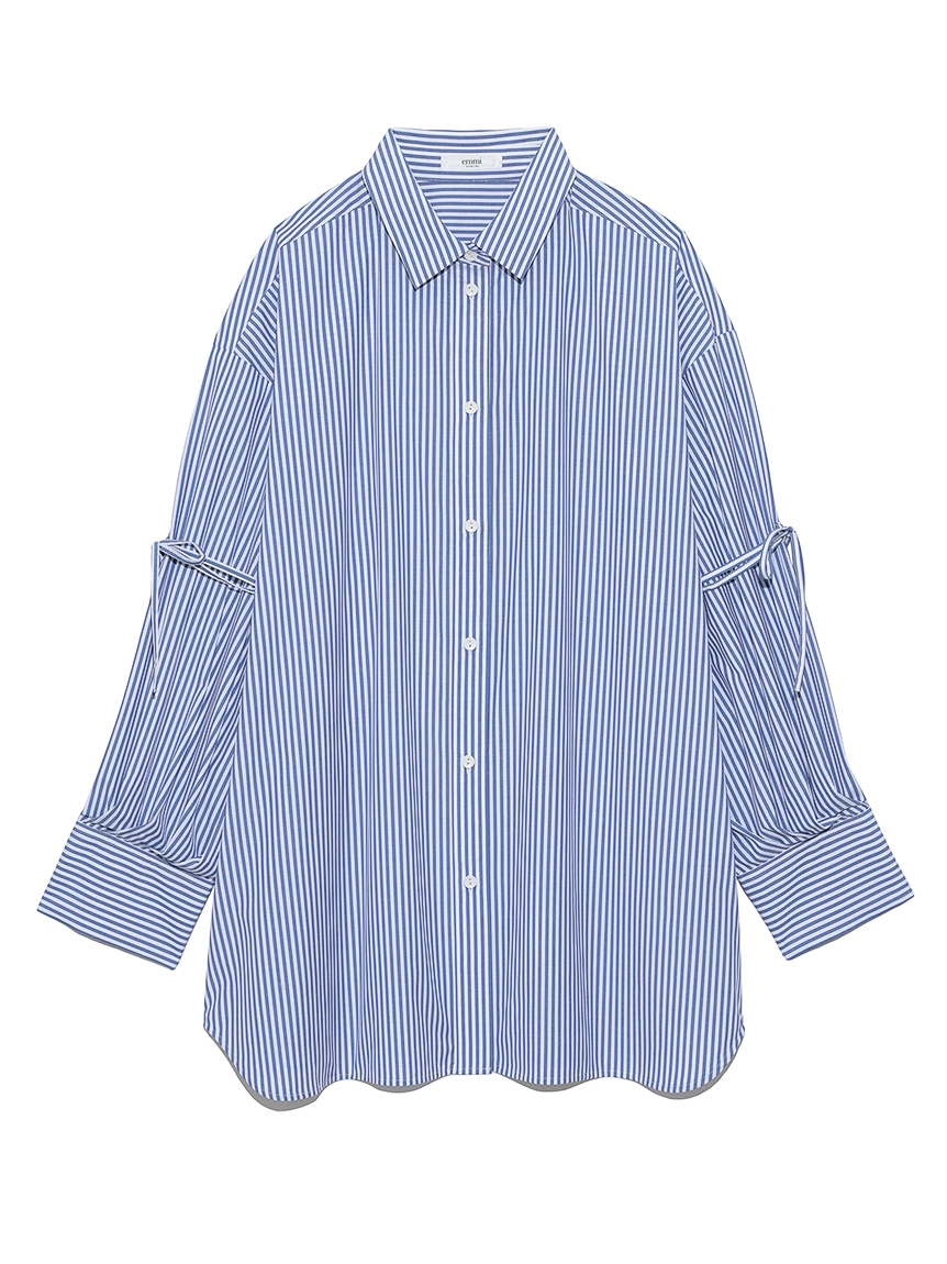 【emmi atelier】ビックスリーブシャツ(STRIPE-F)