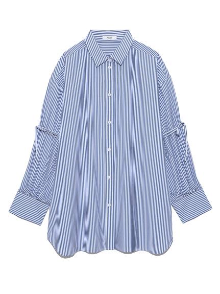 【emmi atelier】ビックスリーブシャツ(STRIPE--)