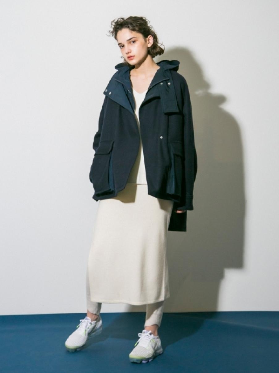 【emmi atelier】オーバーウールコート(NVY-0)