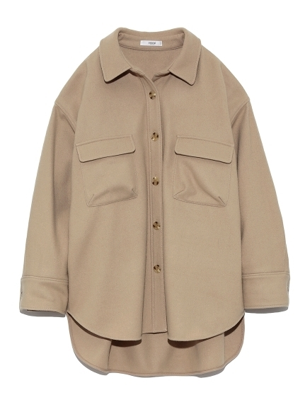 【emmi atelier】ウールシャツジャケット