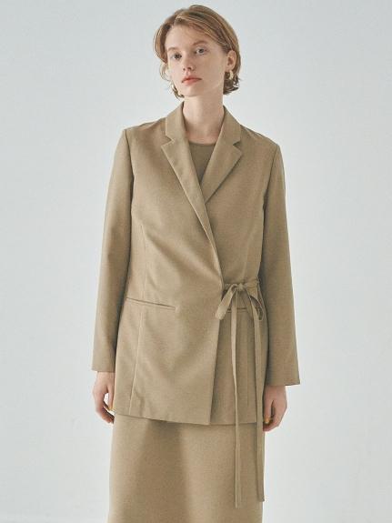 【emmi atelier】バックデザインジャケット(BEG-0)