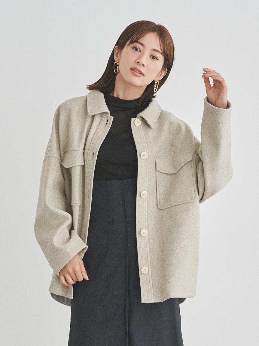 【emmi atelier】CPOビックジャケット(LGRY-0)
